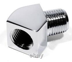 45° Adapter f. Harley Davidson Stegleitung Öldruckmanometer Shovel Head Evo NEU