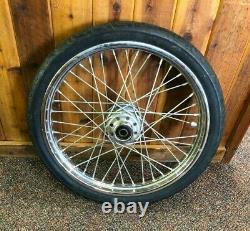 Harley 21-inch Front Wheel Single Disc Shovelhead Evo Chopper Bobber #9284