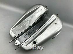Harley Davidson Dyna LOW RIDER Kraftstofftank Two-Tone Billet Silver