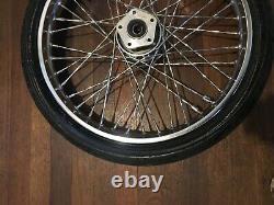 Harley Davidson Shovelhead / evo twisted spoke 21 front wheel single disc