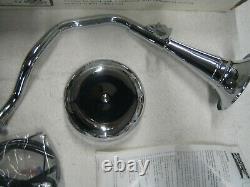 Harley Eagle Iron Trumpet Horn Kit 68900-92T 71-85 FX FLH Shovelhead EVO Electra