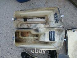 Harley Evo Shovelhead Chopper Bobber Saddlebags Oem
