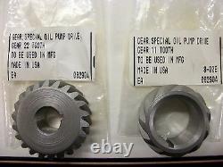 Harley Panhead Shovelhead Evo 21 Ratio Oil Pump Gears for S&S Ultima Jims FX FL