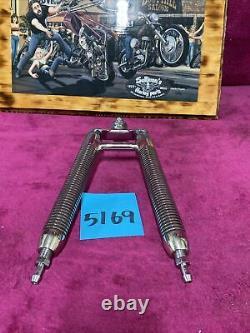 Harley chrome v shaped oil cooler chopper softail bobber custom Shovelhead Evo